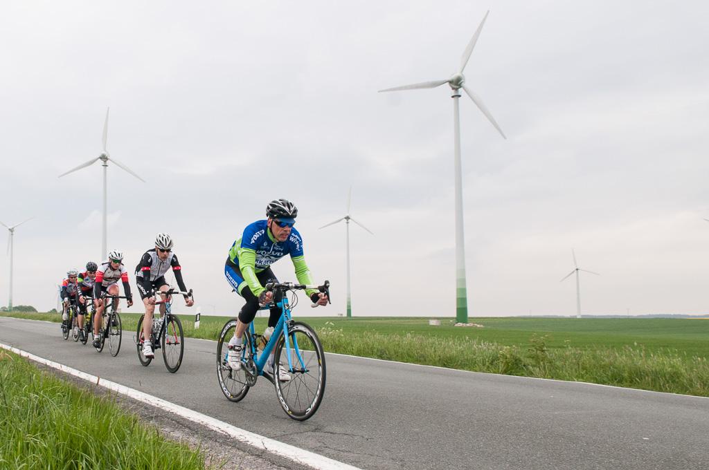 Die Radsportler im vergangenen Jahr auf der Paderborner Hochfläche (Foto: Robert Timmermann)